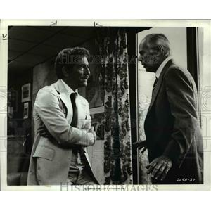 1977 Press Photo George Segal, Richard Widmark in Rollercaoster - orp25828