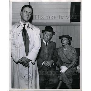 1957 Press Photo Jack Lemmon, Charles Watt & Joan Banks in Voices in the Fog
