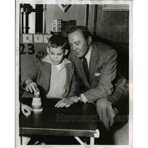 1955 Press Photo of Jack Benny