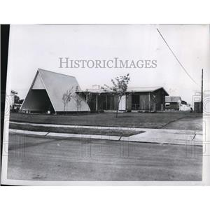 1959 Press Photo National Association House Build House in South Bend, ind