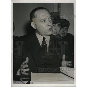 1940 Press Photo David M. Sarnoff Testifies Before Interstate Sub-Committee