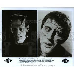 1997 Press Photo Christopher Lee Boris Karloff Bride and Curse of Frankenstein