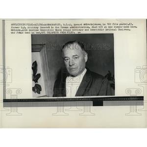 1966 Press Photo Naragansett RI Howard McGrath in 1960 photo ex US Atty Gen
