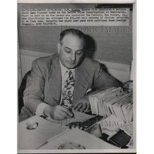1951 Press Photo D.M Nigro Physician and Surgeon Who was in Crime Investigation
