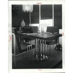 1956 Press Photo Contemporary Dining Room Set Designed by Mrs Hiroko K Tann