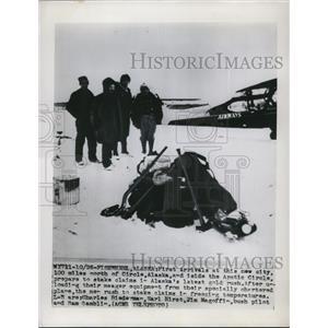 1949 Press Photo 1st arrivals at the New City 100 miles north of Circle, Alaska