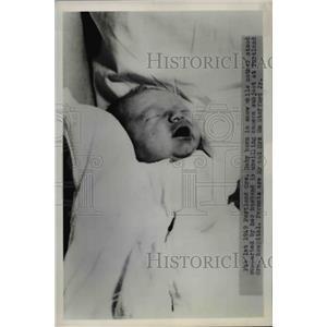 1949 Press Photo Baby Born to Mr & Mrs William Stafford Born in Snowstorm