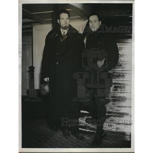1934 Press Photo Seattle Wash immigrants Ivan Boronzoff, George Nolde