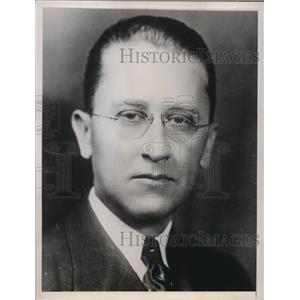 1938 Press Photo J Lewis Morrill Vice President of Ohio State University