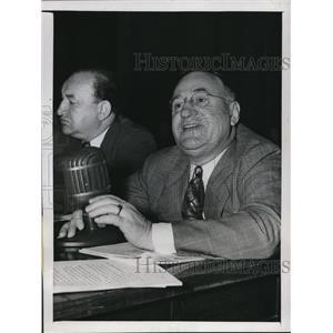 1947 Press Photo Emil Rieve CIO Vice President Speaks to Congress Washington DC