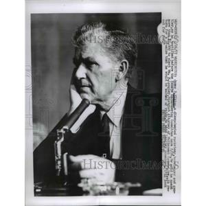 1957 Press Photo James B Elkins Racketeer & Gambler - nee05959