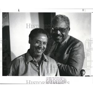 1988 Press Photo Lenny Wilkins Cav head coach and General Manager Wayne Embry