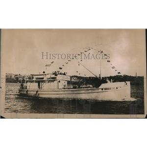 1918 Press Photo Steel Concrete Sea Going Vessel - nee04766