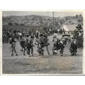 1937 Press Photo War dance by Shoshones, A Symbol of Death