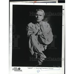 1954 Press Photo Laurence Olivier in Hamlet
