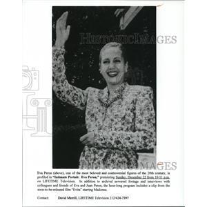 Undated Press Photo Intimate Portrait Eva Peron - cvp50281