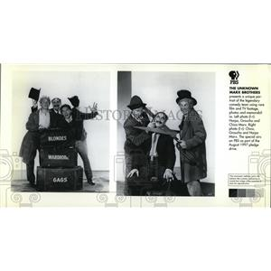 1998 Press Photo Harpo Groucho and Chico Marx Legendary Comedy Team - cvp41771