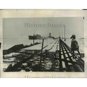 1931 Press Photo Cyclones Swept Madras India Destroying Pier
