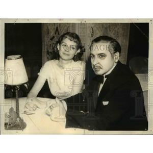 1934 Press Photo of Josef Von Sternberg and Elizabeth Allen. - nee06936