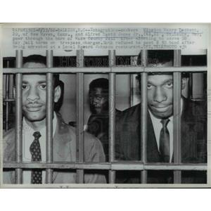 1962 Press Photo Winston Henry Lockett, Alfred David Jones Jr, 30 day jail term