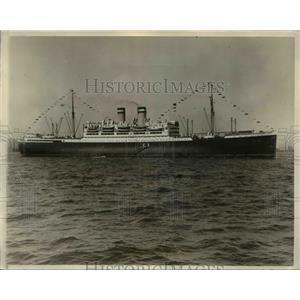 1927 Press Photo SS New York of Hamburg-American arrived in New York City