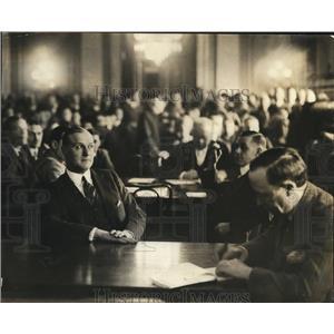 1924 Press Photo Tex Rickard testifying about Dempsey-Carpentier fight film