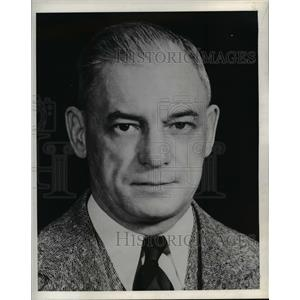 1942 Press Photo Purdue Univ basketball coach Ward Piggy Lambert - nee15056