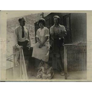 1927 Press Photo Mrs. Freeman, Dir. H.B.Freeman and E.E.Warner - nee16794