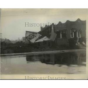 1929 Press Photo Residential Section in Florida Destroyed by Hurricane