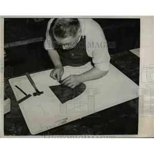1940 Press Photo Glen Martin Company.speeds plane production in Maryland