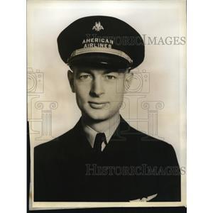 1938 Press Photo Louis Ricks 2nd pilot American Airlines