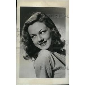 "1944 Press Photo June Meier after ""Blind Date"" Broadcast - nee21462"