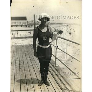 1924 Photo Miss Adele Nolde Named Best All Around Athelete Ocean City NJ