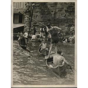 1927 Press Photo Delaware-Chesapeake Championship Boat Races on the Potomac