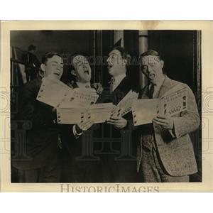 """1929 Vintage Photo Ritz Quartet perform """"Sweet Adeline"""" on CBS radio"""