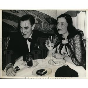 1937 Photo actress Valerie Ziegler & Andre Lord Starlight Roof Club NY