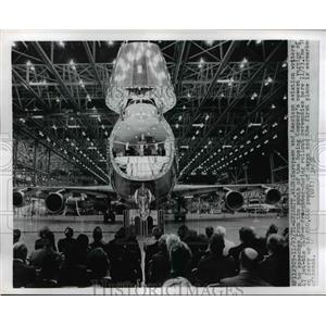 1971 Press Photo Introduction of Boeing 747 in Washington - nee38399