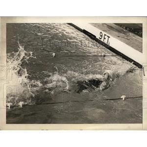 1938 Press Photo Coral Gables Fla swimmer Katherine Rawls 25 yard medley