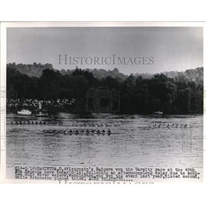 1951 Press Photo Marietta Ohio Wis Badger crew wins 49th IRA races - nes27246