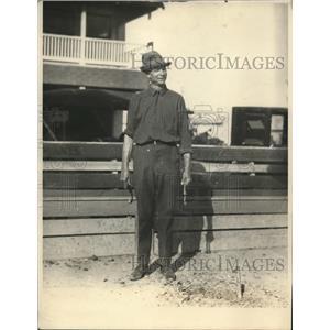 1925 Press Photo E.L. Cole National Honors in Hoss shoe tournament, Florida