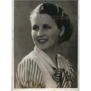 1932 Press Photo Flora Lee Lassetter of Wichita Falls Tex in Hollywood