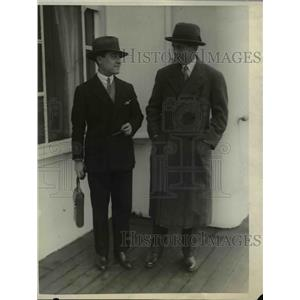 1925 Press Photo Parmley Herrick, Marquis Ergijo arrive on SS France - nee42739