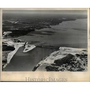 1945 Press Photo The TVA Kentucky Dam to be dedicated by President Truman
