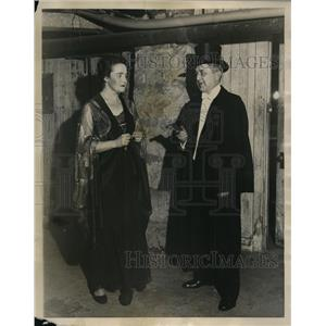 1921 Press Photo Frederic Woodward VP Univ of Chicago & Phyllis Hortow