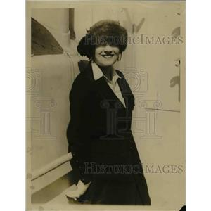 1921 Press Photo Mrs Frank J Gould Arriving in London Contesting Divorce