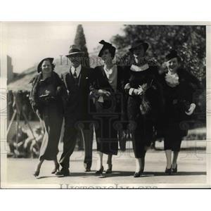 1935 Press Photo Mrs C Henry Gordon C Henry Gordon Lady Helma Furness