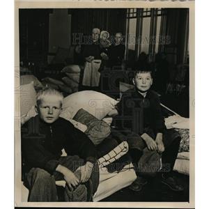 1940 Press Photo Refugee Finnish Children Evacuated  - nee55732
