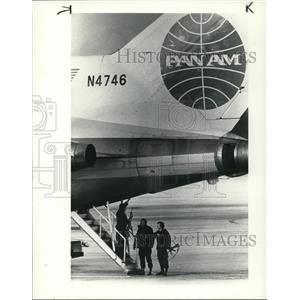 1985 Press Photo Plane was used in hijacking attempt at Cleveland Hopkins