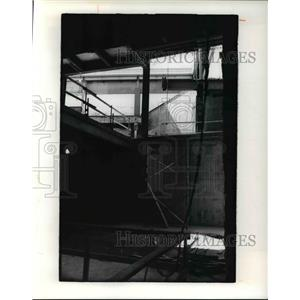 1976 Press Photo Underground tunnel looking up where people will ride escalators