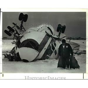 1991 Press Photo Wreckage of a DC-9 cargo plane